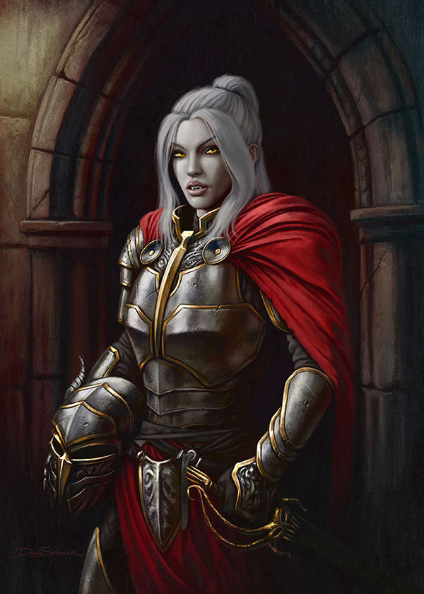 Cover Full Page - Female Knight Vampire - Rpg Stock Art -1788