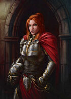 Cover full page - Female Knight Human - RPG Stock Art