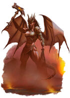 Character - Demon Gladiator in Hell - RPG Stock Art