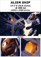 Cover full page - Alien Ship - RPG Stock Art