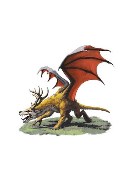 filler spot colour - dragon  wolf deer - rpg stock art