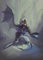 Cover full page - Death Knight Dragon Rider - RPG Stock Art