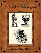 Catalogue - Line Art Spot Fillers - RPG Stock Art