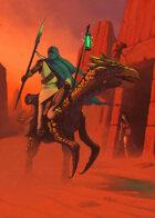 Cover full page - Desert Rider - RPG Stock Art