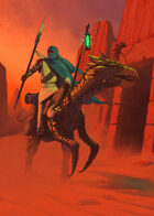Cover full page - Desert Rider without Girl - RPG Stock Art