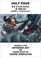 Half page - Dwarf Slayer - RPG Stock Art