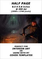 Half page - Campfire - RPG Stock Art