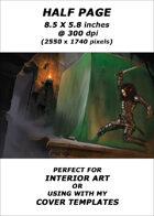 Half page - Gelatinous Cube - RPG Stock Art