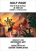 Half page - Robots vs Zombies - RPG Stock Art