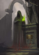 Cover full page - Mage Wraith - RPG Stock Art