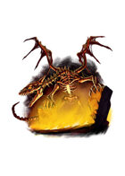 Filler spot colour - dragon: skeleton - RPG Stock Art