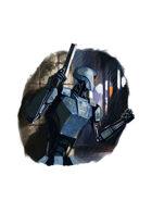 Filler spot colour - character: police droid - RPG Stock Art