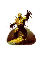Filler spot colour - golem: treasure - RPG Stock Art