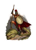 Filler spot colour - character: spartan hydra slayer - RPG Stock Art