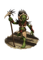 Filler spot colour - goblin shaman - RPG Stock Art
