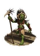 Filler spot colour - character: goblin shaman - RPG Stock Art