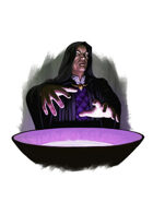 Filler spot colour - character: mage scrying - RPG Stock Art