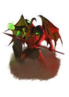 Filler spot colour - character: demon knight - RPG Stock Art