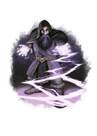 Filler spot colour - character: duergar mage - RPG Stock Art
