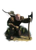 Filler spot colour - character: hunter - RPG Stock Art
