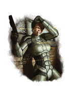 Filler spot colour - character: sci-fi armour - RPG Stock Art