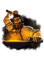 Filler spot colour - character: dwarf blacksmith - RPG Stock Art