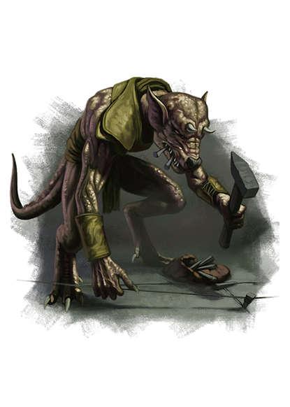 Filler spot colour - character: kobold setting trap - RPG Stock Art - Dean  Spencer Art | Filler Spot Color Art | DriveThruRPG com