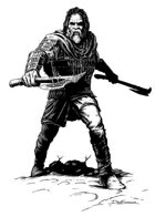 Character ink - half giant warrior - RPG Stock Art
