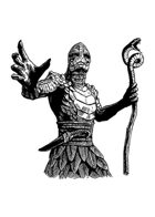 Filler spot - character: serpentman priest - RPG Stock Art