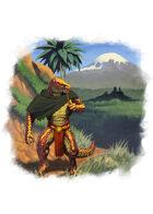 Filler spot colour - character: saurian journey - RPG Stock Art