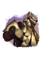 Filler spot colour - character: knight riding panther - RPG Stock Art