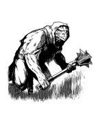 Filler spot - character: saurian warrior - RPG Stock Art