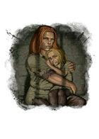 Filler spot colour - character: dwarf prisoners - RPG Stock Art