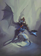 Quarter page - Death Knight Dragon Rider - RPG Stock Art