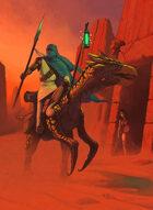 Quarter page - Desert Rider with Girl - RPG Stock Art