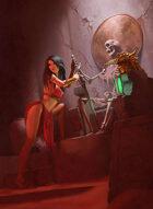 Quarter page - Desert Thief - RPG Stock Art