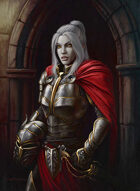 Quarter page - Female Knight Vampire - RPG Stock Art