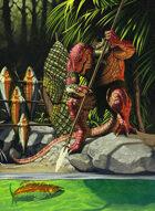 Quarter page - Saurian Fishing - RPG Stock Art