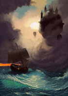 Quarter page - Trouble at Sea: Citadel & Ship - RPG Stock Art