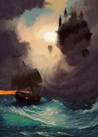 Quarter page - Trouble at Sea: Citadel & Ship - RPG Stock Art