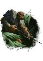 Filler spot colour - character: ogre hunter - RPG Stock Art