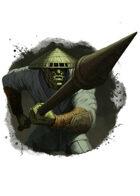 Filler spot colour - character: orc pikeman - RPG Stock Art