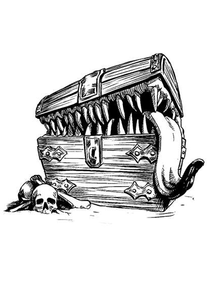 Filler spot - creature: mimic - RPG Stock Art