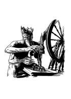 Filler spot - character: spider person spinning - RPG Stock Art