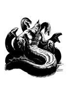 Filler spot - character: dagon on throne - RPG Stock Art