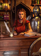 Quarter page - Merchant - RPG Stock Art