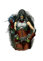 Filler spot colour - character: artificer non-magical - RPG Stock Art