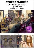 Cover full page - Street Market - RPG Stock Art