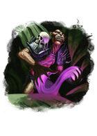 Filler spot colour - character: ogre necromancer - RPG Stock Art