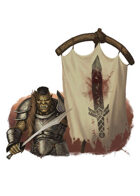 Filler spot colour - character: orc bannerman - RPG Stock Art
